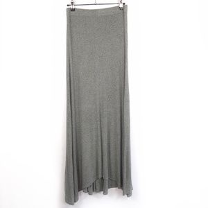 BCBGMaxazria Sydnee Grey Ribbed Long Maxi Skirt